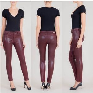 Level 99 Mid Rise Burgundy Skinny Jeans Size 31/12